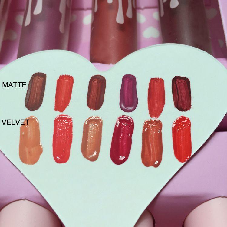 Livraison Gratuite par ePacket Nouvelle Marque de Maquillage The Birthday Collection MATTE Rouge à lèvres liquide / set Je le veux TOUTES les couleurs