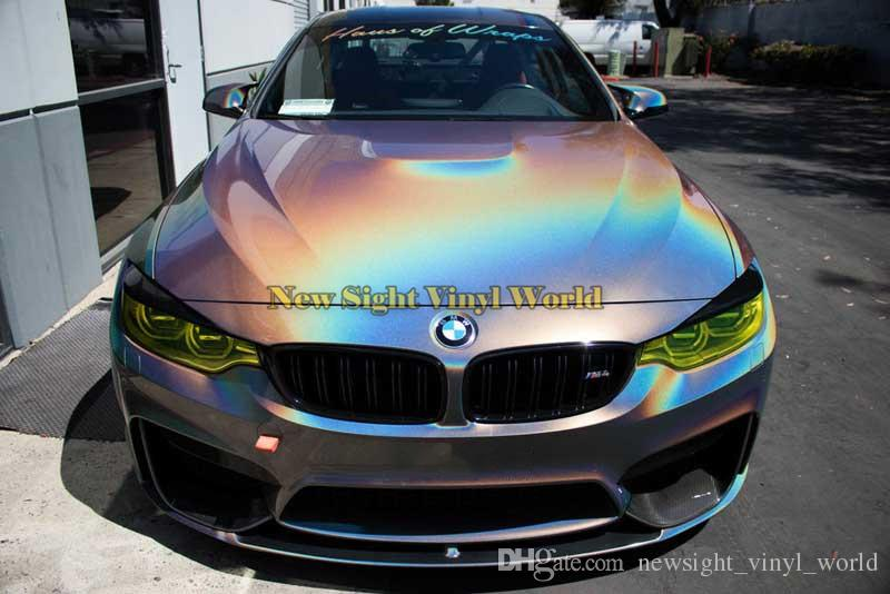 2019 Premium Grey Gloss Psychedelic Vinyl Car Wrapping