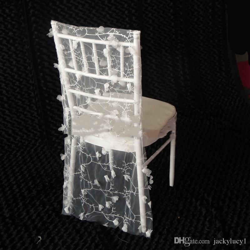 Gamme Chaise Mariage Dentelle Haut De Broderie 3d Ceinture Couvre Fleur Banquet Blanc Décorations Fournitures Arrière sChdtQxr