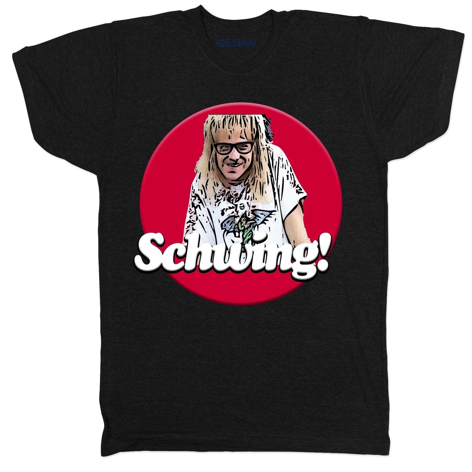 4751c4a08d9 Schwing Waynes World Movie Film Comedy Funny 80s 90s Tribute Black T Shirt  Online with  12.99 Piece on Shirtsthatrock s Store