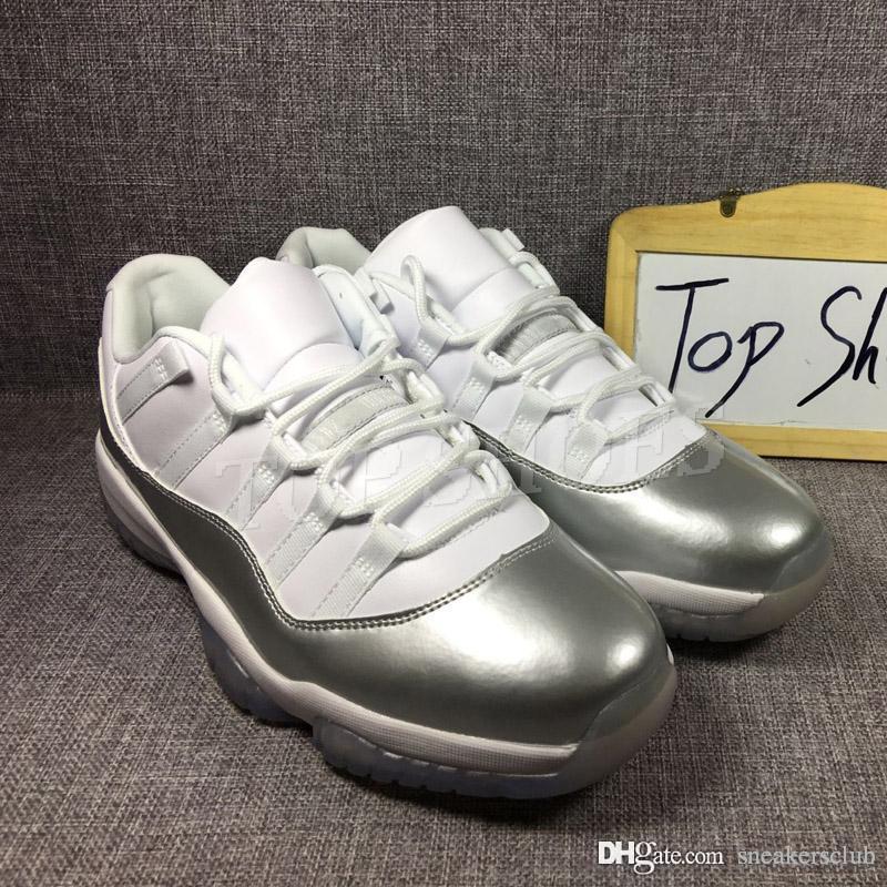 e729a4fde407a7 Basketball Shoe 11s Silver White Running Shoes Sport Shoes Men Women Low Sneakers  11 Silver Basketball Shoes Size 36-47 Basketball Shoe 11s Silver White ...