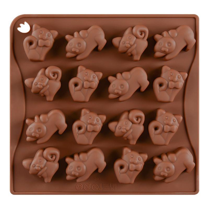 Grosshandel 16 Tassen Schone Katzen Form Silikon Diy Kuchen