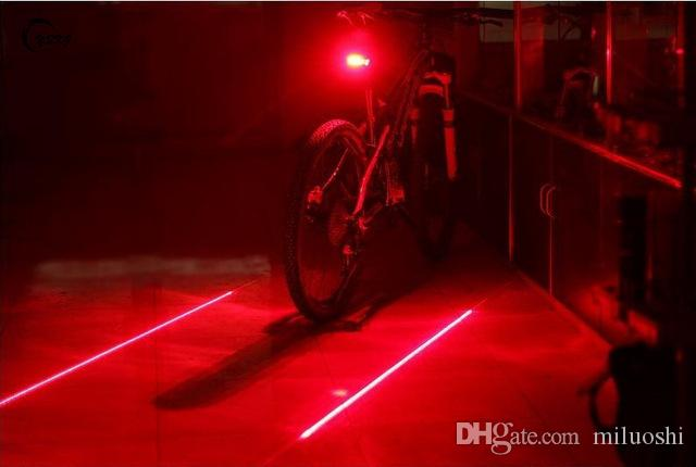 e93eb59eb40 2019 Bicycle LED Tail Light Safety Warning Light 5 LED+ 2 Laser Night  Mountain Bike Rear Light Lamp Bycicle From Miluoshi