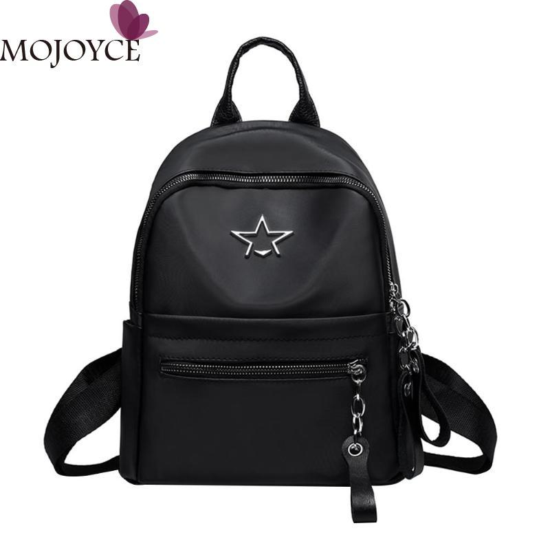 Women Simple Backpacks 2018 Solid Star Students