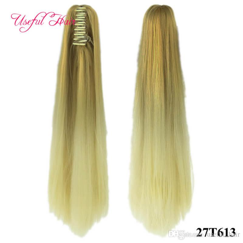 Latest Collection Of Xtrend 20inch 130g Long Straight Synthetic Ponytail Hair Extension With Claw Clip Fake Hairpieces For Lady High Tempreture Fiber Hair Extensions & Wigs Synthetic Extensions