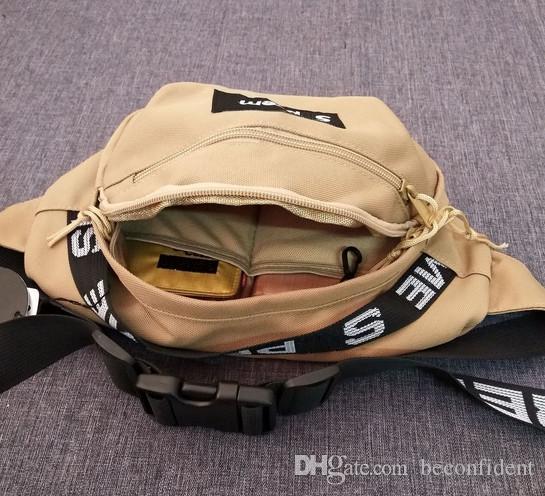 2018 Best selling explosion brand letter handbag fashion casual Messenger bag hip hop sports bag trend shoulder bag