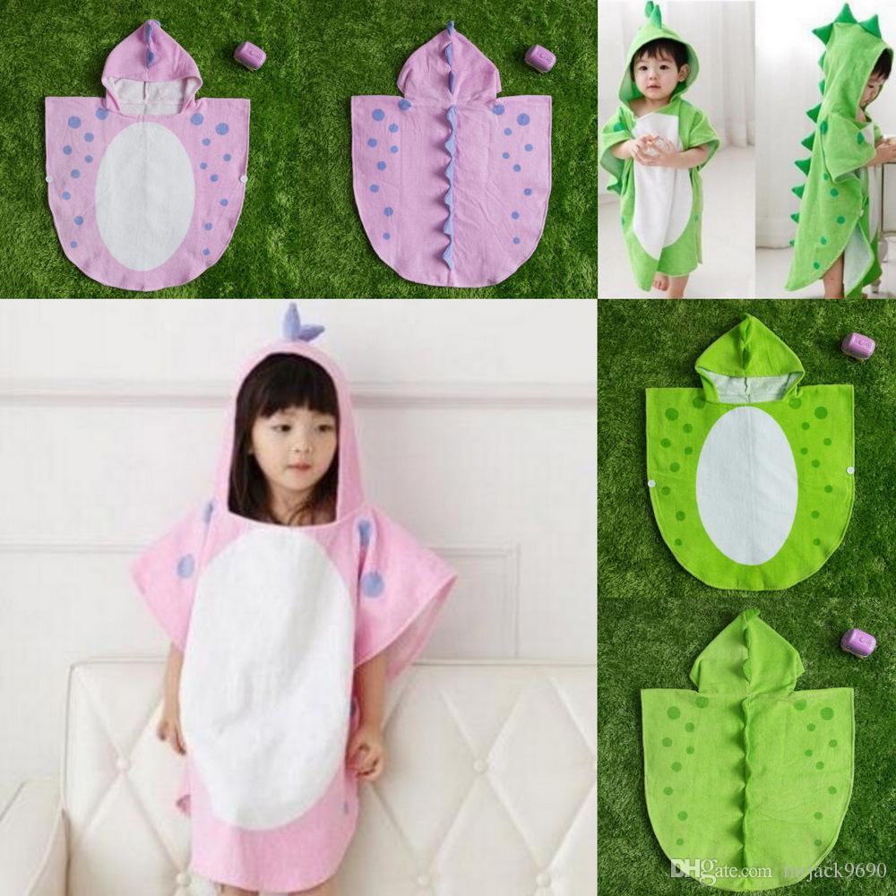 6c8f2cea8a47 Korean Style Children Cotton Bathrobe Animal Dinosaur Baby Towel ...
