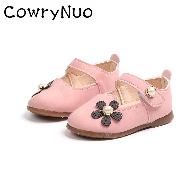 b15b1efab6e9 Insole 11.5 13.5cm Spring 2018 Flower Girl Baby Single Shoe Soft Sole  Leather Shoes Brown Leather Shoes For Girls All White Leather Shoes From  Fragranter