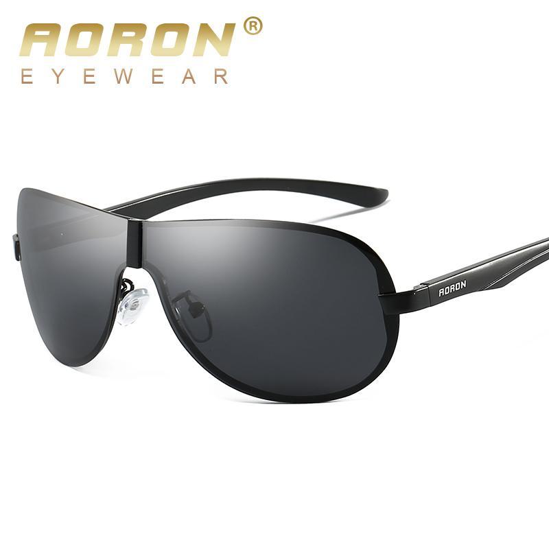 c6103c359 Compre Aoron Clássico Dos Homens Polarizados Óculos De Sol Polaroid  Condução Piloto Óculos De Sol Homem Óculos De Sol UV400 Alta De  Shanqingmou, ...