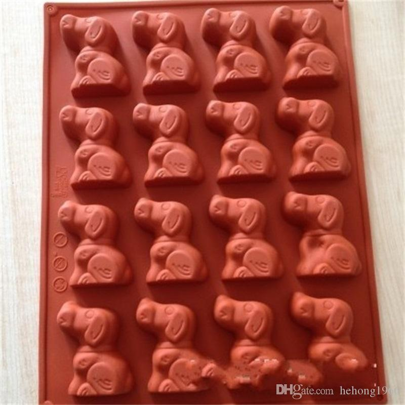 Silicone Mould Cake Dog Mold Baking Handmade Soap Cartoon Model Purple Brown Jelly Pudding High Quality 7 5cq V