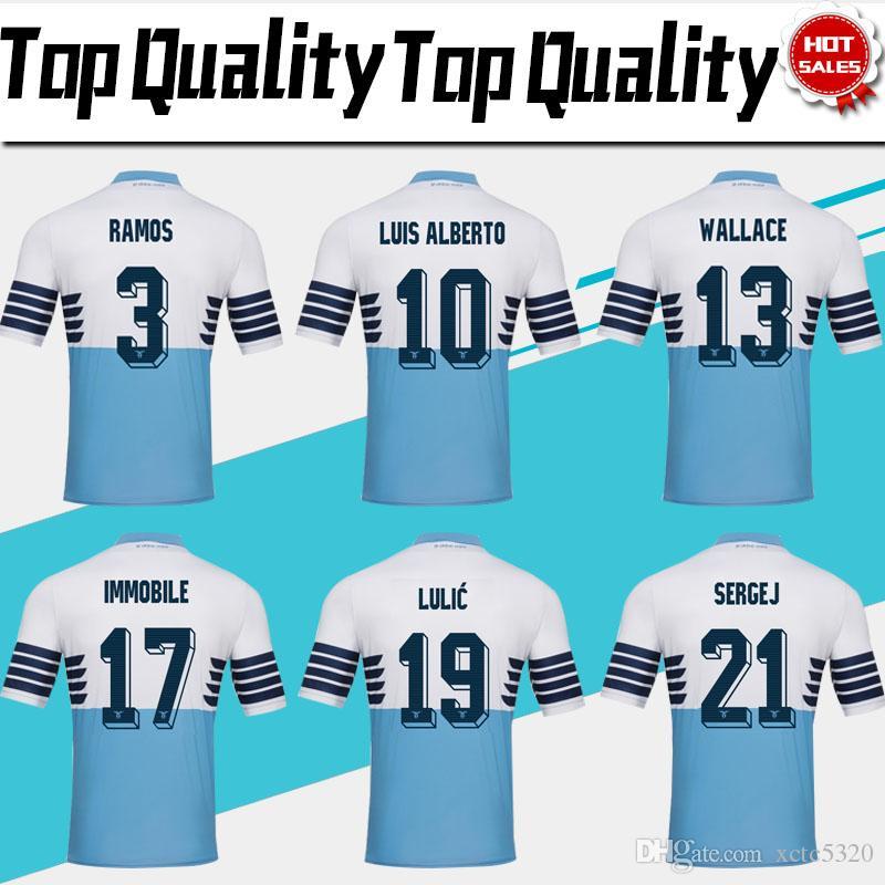 8414ea3171b 2019 2019 Lazio Home Blue Soccer Jersey 18/19 Lazio Soccer Shirts #17  IMMOBILE #21 SERGEJ #19 LULIC #10 LUIS ALBERTO Football Shirt On Sales From  Xctc5320, ...