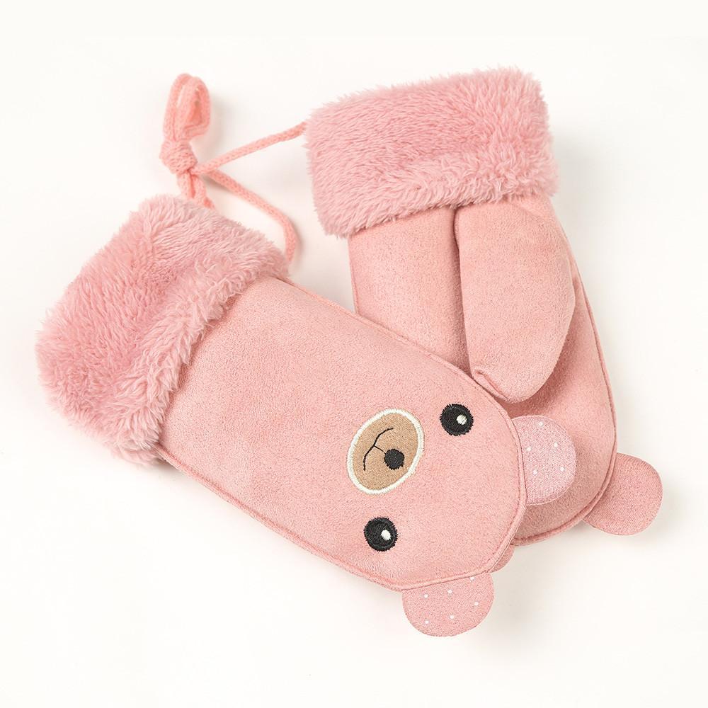 5ad36313d7be 2019 Children S Gloves Winter Cartoon Warm Plus Velvet Thickening ...