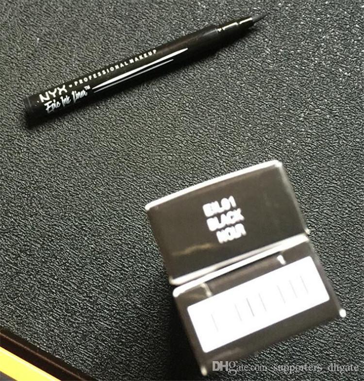 지속 새로운 NYX 에픽 잉크 라이너 NYX 블랙 아이 라이너 펜슬 헤딩 메이크업 액체 블랙 컬러 아이 라이너 조합 방수 화장품 롱