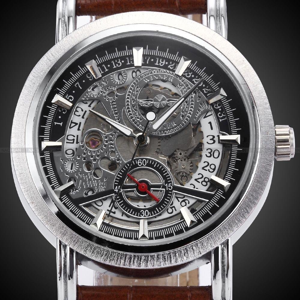 8883692760c WINNER Skeleton Male Relogio Masculino Luxury Automatic Watch Designer  Analog Leather Casual Watch Military Men Mechanical Watch Chronograph Wrist  Watch ...