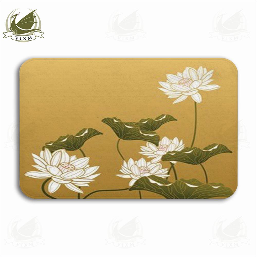 2018 Vixm Chinese Painting Lotus Flower Welcome Door Mat Rugs