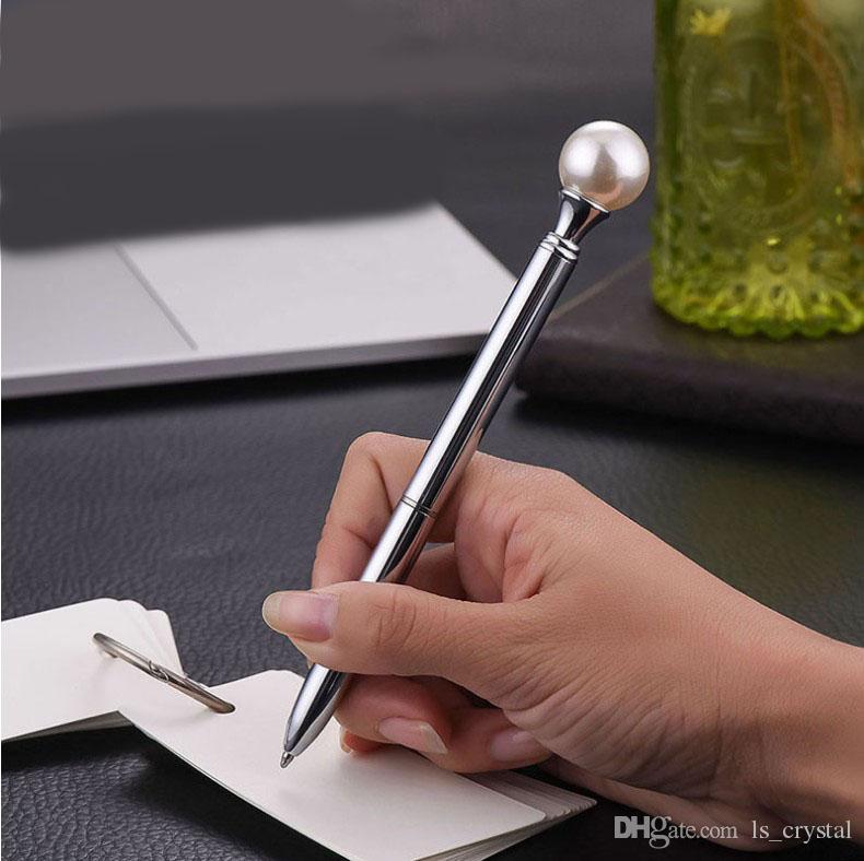 المبدع كبير اللؤلؤ الصولجان قلم الحبر الأسود الحبر الطلاب القرطاسية هدية مدرسة مكتب التموين WJ003