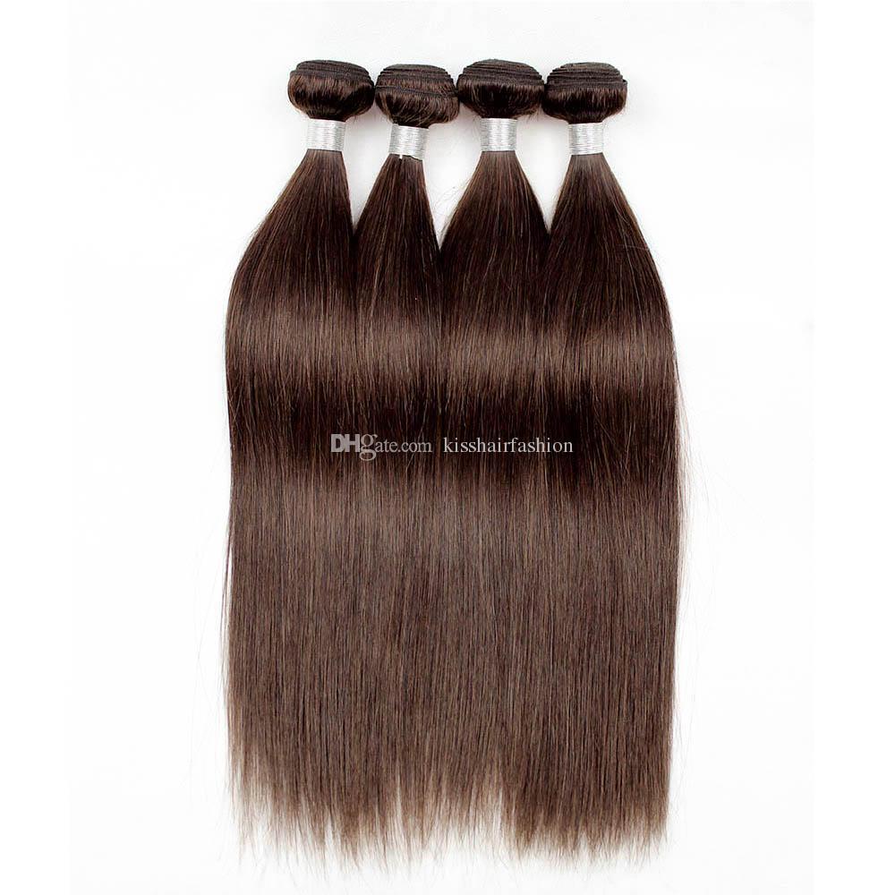 Brazilian Straight Hair Weave Bundles Natural Color 2 Dark Brown Quality Remy Human Hair Extension Virgin Brazilian Hair Bundles