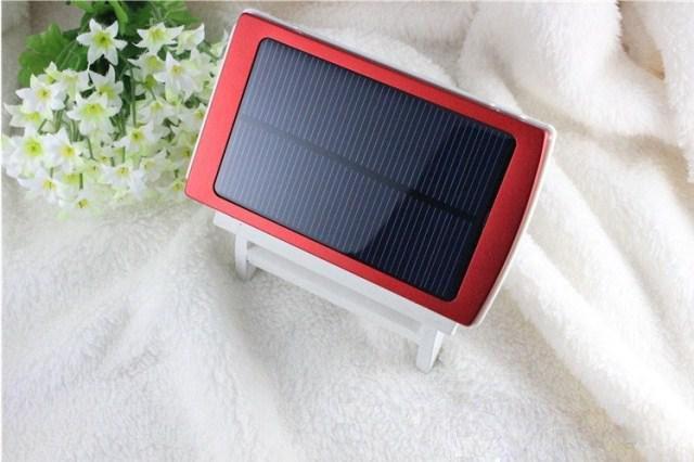 Tragbare Solarbatterie-Ladegeräte 30000mAh tragbare doppelte USB-Sonnenenergie-Panel-Energie-Bank für Handy-PAD-Tablette MP3 MP4