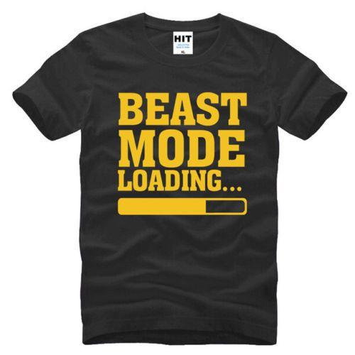 f4ff69f695a4de Großhandel Beast Mode Loading Schwarz Kurzarm Herren T Shirt Größe S 3Xl T  Shirts Hemd Männer Mode Benutzerdefinierte Kurzarm 3XL Plus Größe T Shirts  Von ...