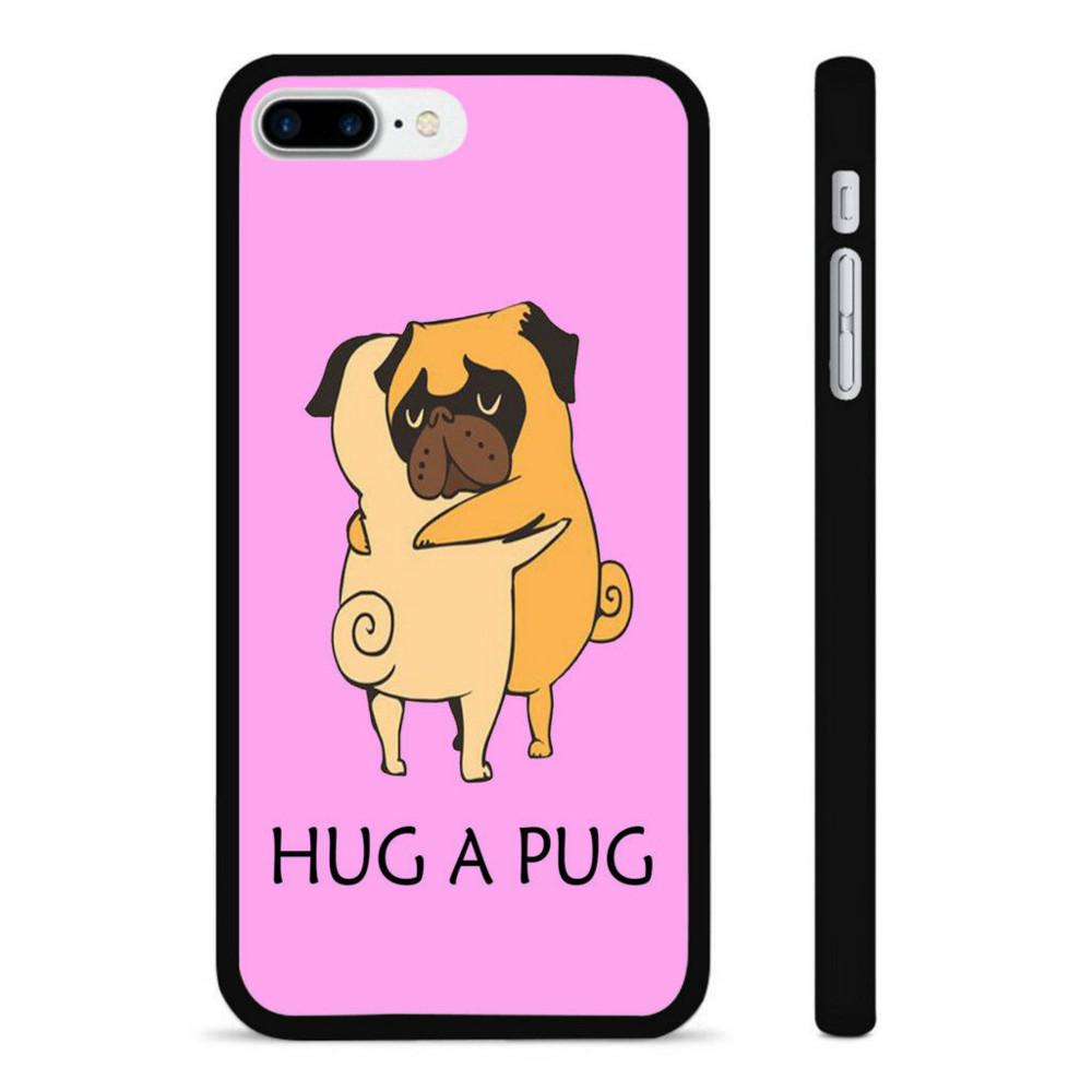 outlet store 93ab7 cba3f Hug A Pug Phone Case For Iphone 5c 5s 6s 6plus 6splus 7 7plus Samsung  Galaxy S5 S6 S6ep S7 S7ep