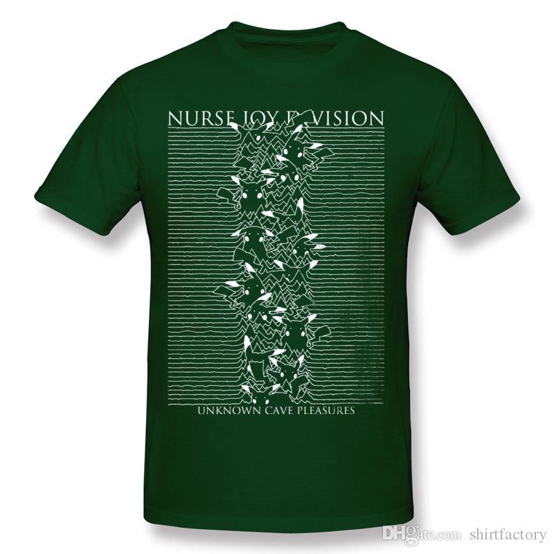 T-Shirt Hombre Hombre 100% Cotone Infermiera Joy Division T Shirt Hombre Girocollo Beige T-Shirt In Vendita Plus Size Printed On T Shirt
