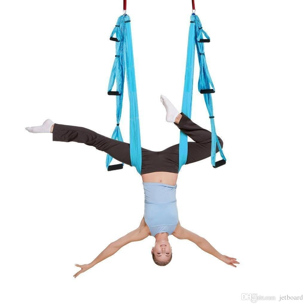 Fitness & Body Building 14 Colors Fitness Yoga Hammock Yoga Swing Anti-gravity Aerial Straps High Strength Fabric Decompression Hammock