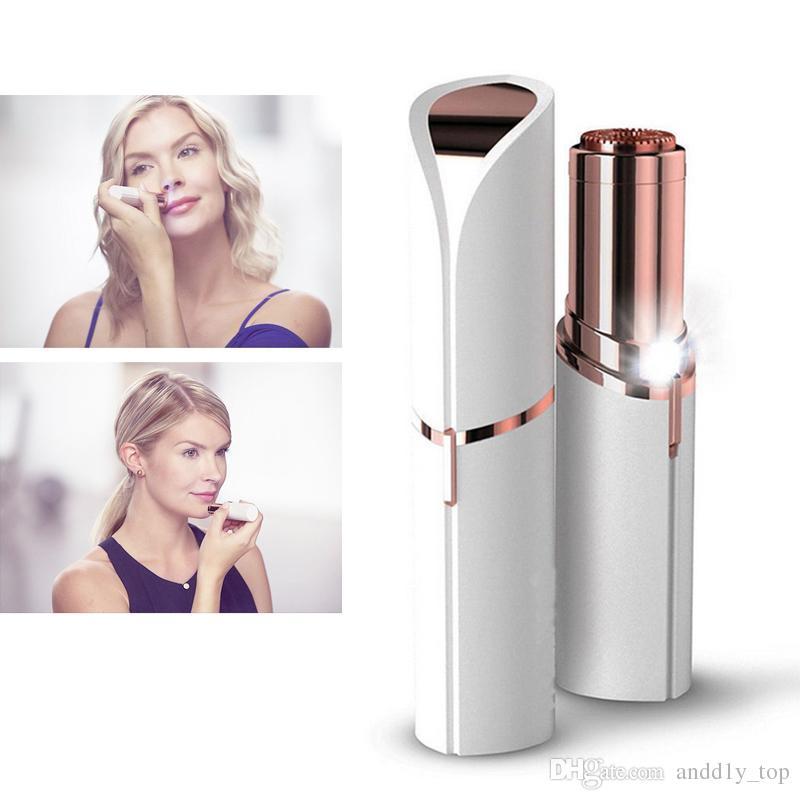 Lippenstift gesichtshaarentferner rouge tragbare gesicht haarentfernung rasierer epilierer frauen sommer defeatherer hautpflege schönheit werkzeug