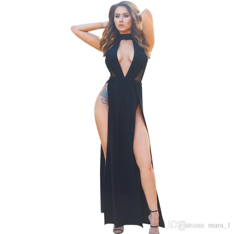 62a34b90d2 Maxi abiti estivi donne senza spalline Gonne lunghe gonne Abito da sera  nero Vestito da sera sexy da night club Abbigliamento da ragazza  Abbigliamento ...