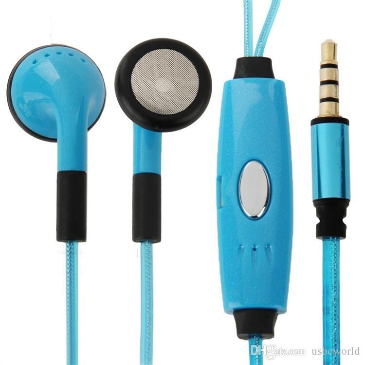 EL LED Lumineux Rougeoyant Écouteurs LED Lumière De Nuit Dans L'oreille Écouteurs Écouteurs Plat Glow In The Dark Casque Pour Iphone Mobile Téléphone