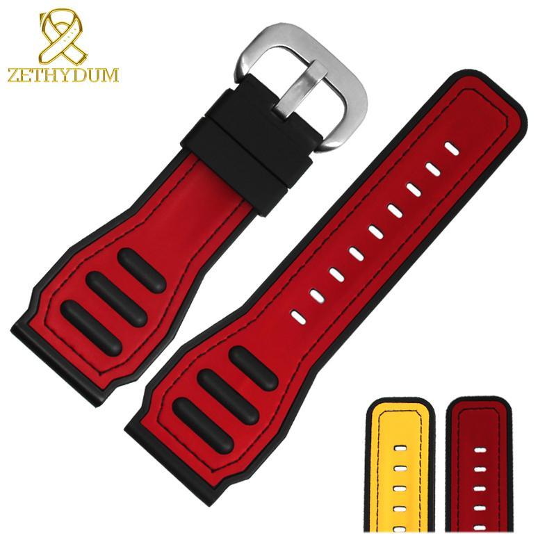 Jaune Accessoires Les Sport Montre Rouge Du Caoutchouc Bracelet De En Silicone Pour Couleur 28mm c4LAR5qS3j