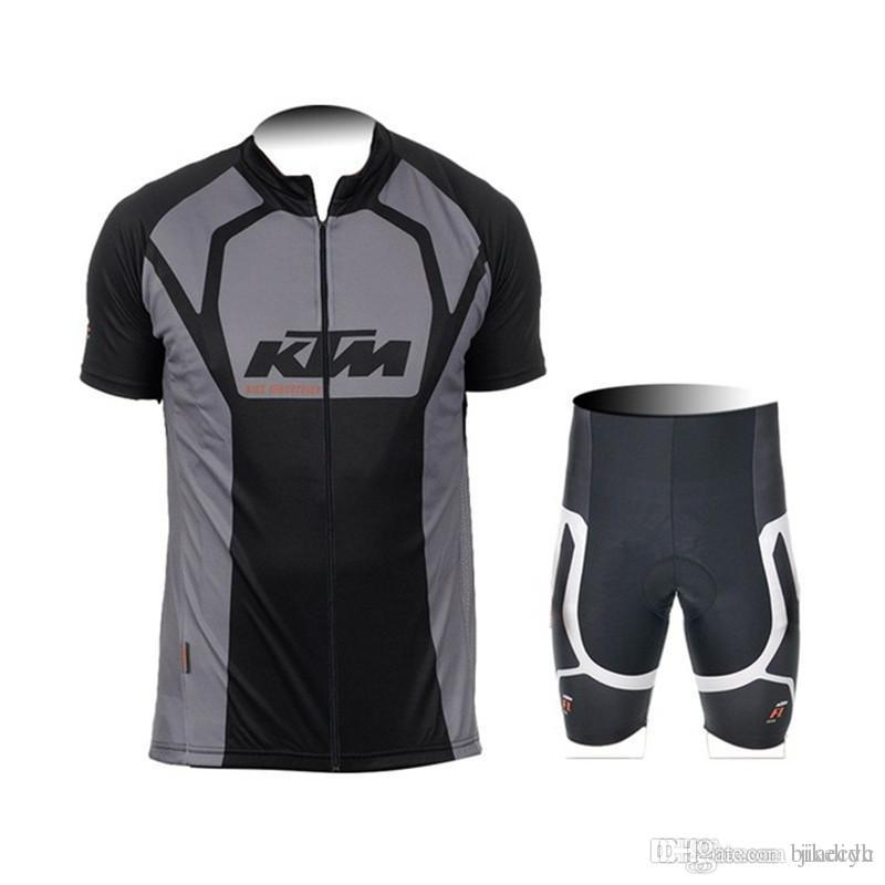 KTM Team Cycling Short Sleeves Jersey Bib Shorts Sets Mens Quick Dry  Compressed Bike Wear Summer Gel Pad Sportwear New C1525 KTM Cycling Jersey  Cycling ... 7ddae1a07