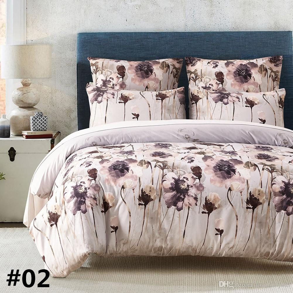 New Floral Design Bedding Set Of -Duvet Cover Set Quilt Cover Pillowcase Twin Queen King Size Factory Price