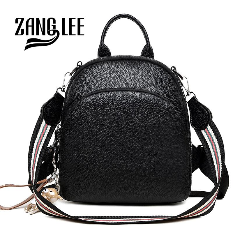 ZANG LEE Soft PU Leather Korean Cute Small Black Backpack Purse Women 2018  Dual Use College School Shoulder Bag With Strap Backpacks Bags From  Wasabiu f83b50b9fe64c