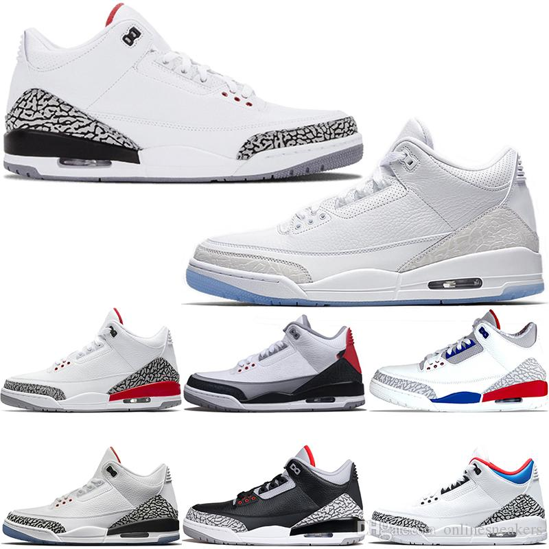 sports shoes 3afb1 64a01 Acheter Nike Air Jordan 3 3s Retro Chaussures De Basket Ball Hommes Katrina  Tinker JTH NRG Noir Ciment Libre Ligne De Lancer Pure Blanc Feu Rouge Pas  Cher ...
