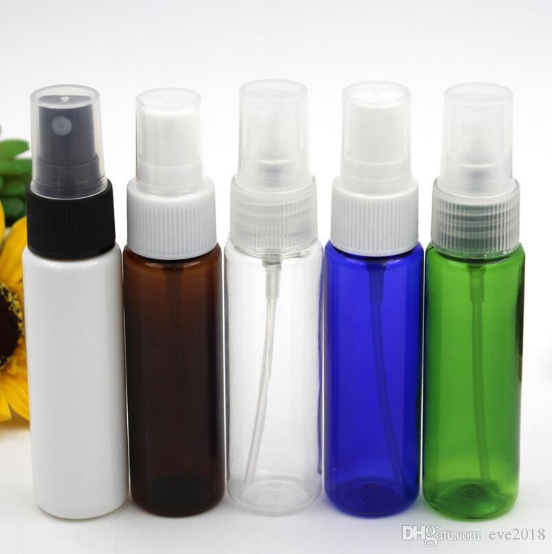 30ML Flat Shoulder Plastic Spray Pump Bottle, Empty Cosmetic Perfume Sub-bottling Container With Mist Atomizer LX1220