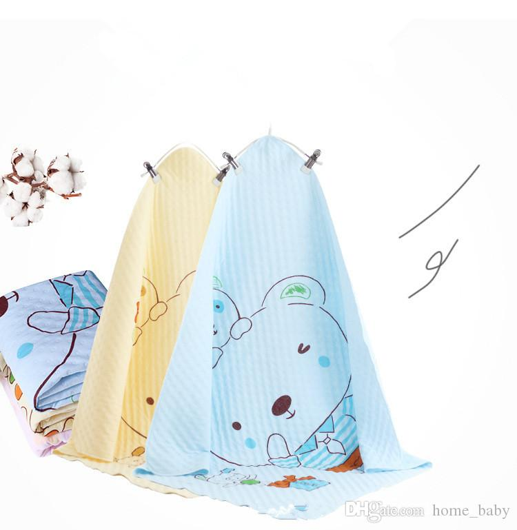 Newborn Nursery Bedding 100% Cotton Hold Wraps Infant Muslin Blankets Baby Bath Towel Swaddle Receiving Blankets 75cm*75cm