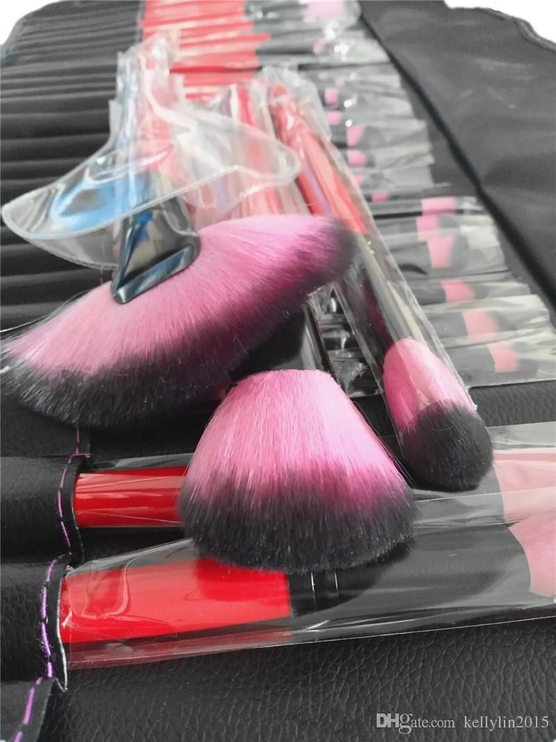 메이크업 브러쉬 세트 전문가 전체 화장품 재단 아이 섀도우 립 파우더 케이스 가방이있는 브러쉬 도구
