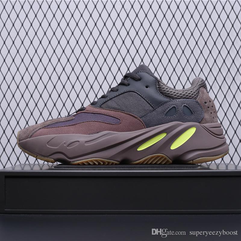 new product 98763 08da9 Acheter Adidas Yeezy Boost 700 Mauve Bottes Avec Boîte 2019 Nouveaux Hommes  700 Vague Coureur Concepteur Baskets Femmes Meilleure Qualité Kanye  Chaussures ...