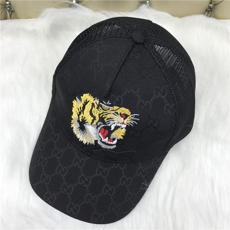 Fashionable Men S Canvas Baseball Cap Duck Hat Outdoor Leisure Sun Hat Sun  Tiger Embroidery Black Hat Stores Custom Trucker Hats From Dh  shopping b9ef9a43751