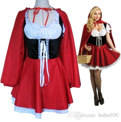 Caperucita Roja Halloween.Halloween Adulto Caperucita Roja Disfraz De Mujeres Halloweencarnival Party Club Disfraz Atractivo Tamano S 6xl