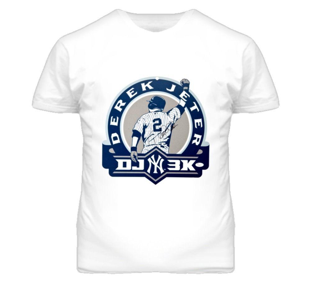 watch fe257 5767c Derek Jeter Captain Respect 3K Hits Signature Style New York Baseball T  Shirt