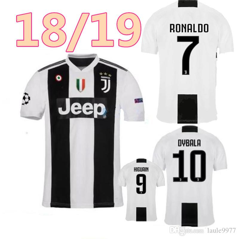 88e698772 Juventus Soccer Jersey 2018 19 RONALDO DYBALA BUFFON Soccer Shirt MARCHISIO  MANDZUKIC PJANIC HIGUAIN Football Shirt 18 19 Online with  15.39 Piece on  ...