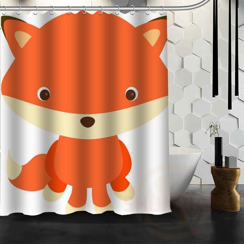 2018 Best Nice Custom The Fox Shower Curtain Bath Waterproof Fabric For Bathroom MORE SIZE WJY54 From Rudelf 408