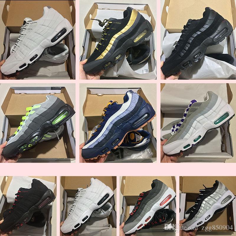 Compre Zapatillas Para Correr Hombre Air Cushion Nike Air Max 95 ID LX  Sneakers 2018 Nuevo Para Hombre Black Red White Walking Descuento Hombre  Zapatillas ... 9c4bb23b941