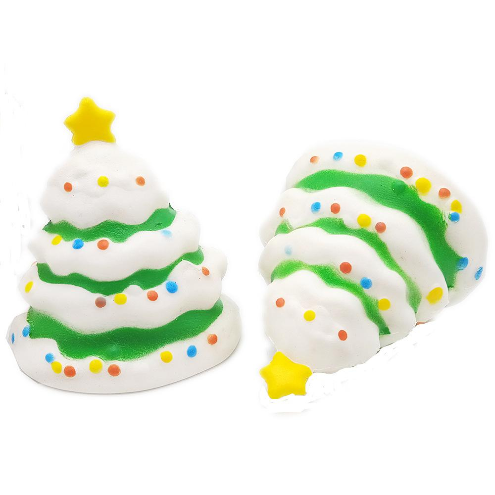 2018 INS 10CM PU Christmas Decoration Tree Tinkle Bell Depression Toys For Kids Squishy