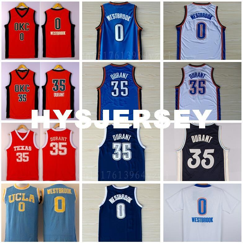Kevin Durant 35 Basketball Jerseys College Retro Christmas 0 Russell ...