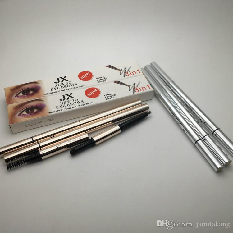 New 3d Eye Brows 3 In1 Air Cushion Triad Eyebrow Pencil Powder Brush
