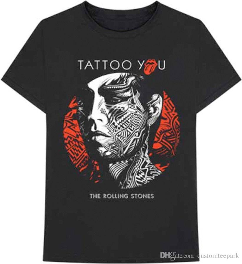 The Rolling Stones Tattoo You Support Dropship T Shirt T Shirt For Men Swag Custom Short Sleeve Boyfriend S Plus Size T Shirts
