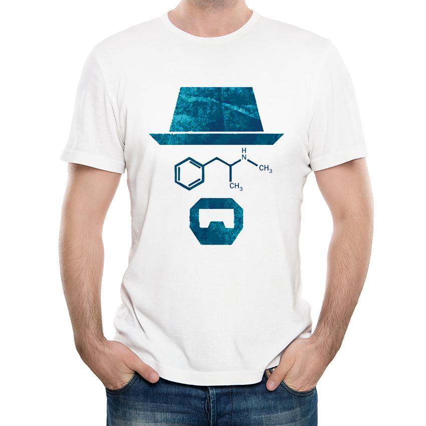 4a1dd27ae0604 Compre Moda Al Por Mayor De Descuento Azul Heisenberg Camiseta De Los  Hombres Al Por Mayor De Descuento De Alta Calidad Masculina Hipster De  Manga Corta ...