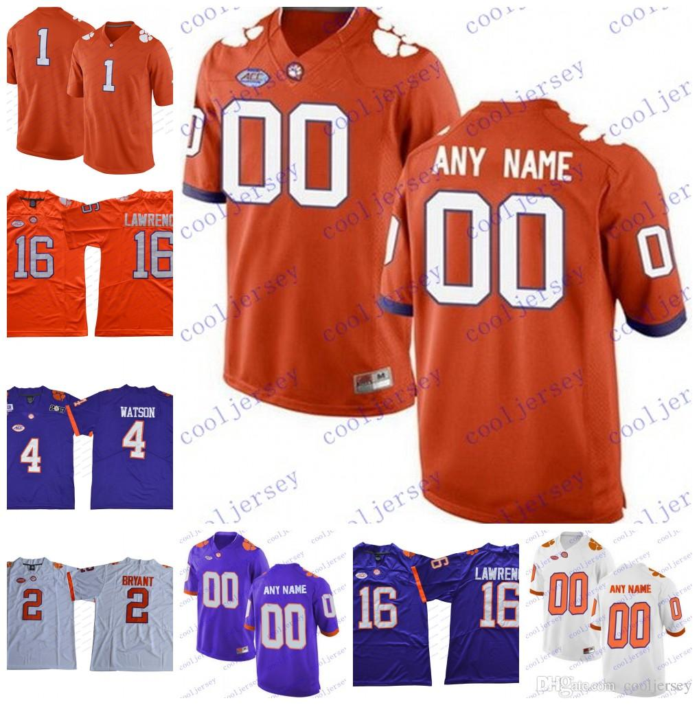63a0d7cd705 Custom NCAA Clemson Tigers College Football Limited Personalized ...